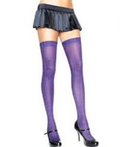 Leg Avenue Parigine Viola A Quadri | LA6307